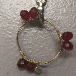 Bourbon and Bowties red and gold bangle